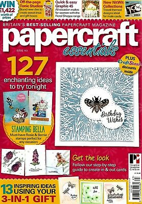 Papercraft Essentials  Magazine Issue 163  2018   Free Gift