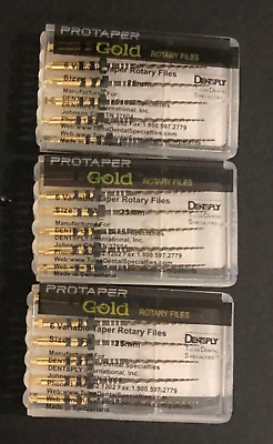 3 x Dentsply ProTaper Gold Files Assorted F4 25mm