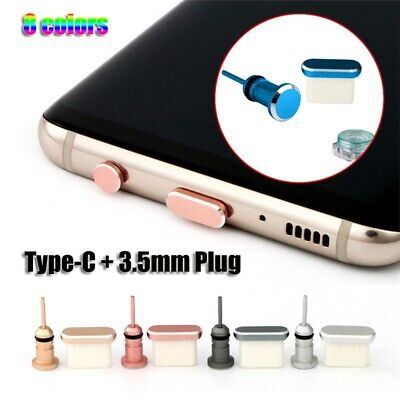 Metal Type C Charging Port Anti-Dust 3.5mm Earphone Jack Plug For Android Phone