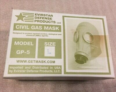 NIB GP-5 Grey Gas Mask Military Gas Mask For Use During an NBC Attack
