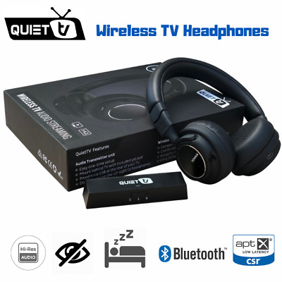 Wireless Headphones for TV. Bluetooth HD Audio with Optical or RCA QUIETTV USB