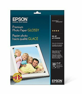 Epson Premium Photo Paper GLOSSY (8x10 Inches, 20 Sheets) (S041465) FREE 2 DAY!