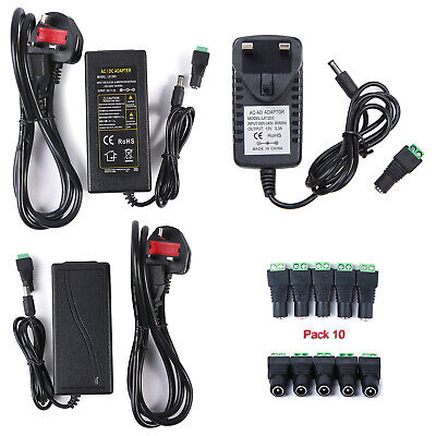 AC DC 12V 3A/5A Power Supply Adapter Charger Transformer for 3528/5050 LED Strip