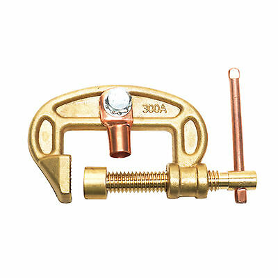 "New Brass Earth Clamp Ground Clamp 300 Amp Max Clamp Size 1.6"" 40 mm CEC-300A"