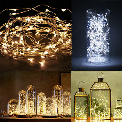 1pcs LED String White Lights Firefly Fairy Light For DIY Wedding Party 15-100LED