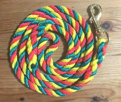 Handmade Rope Dog Lead or lead splitter with brass trigger clip various colours