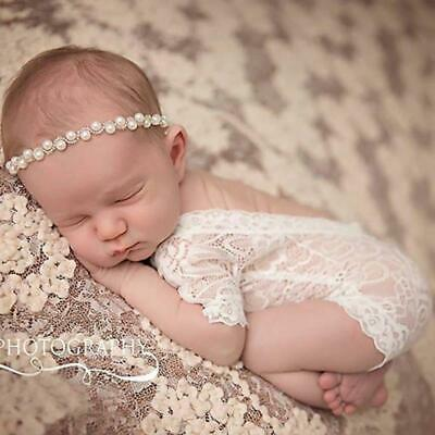 Newborn Infant Baby Lace Romper Girl Photo Photography Prop Outfit Clothes