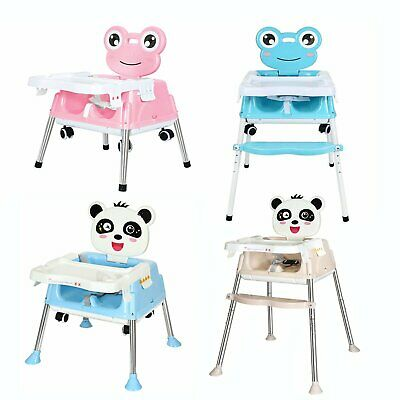 5 in 1 Baby Kids Toddler Infant High chair Feeding Recliner Seat Chair Foldable