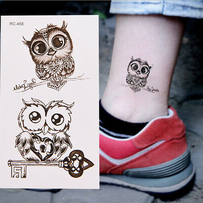 1Pc Makeup Cute Owl Tattoo Arm Body Art Waterproof Temporary Tattoo Stickers ^S