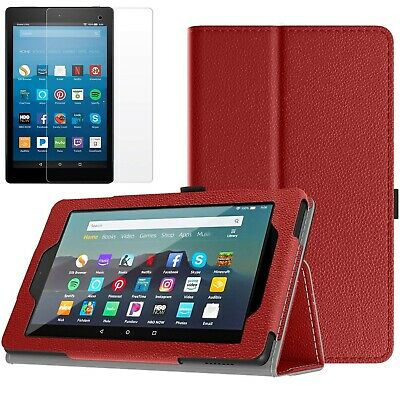 Case Cover Fits Amazon All-New Fire 7 Tablet 9th Generation 2019 + Glass Screen