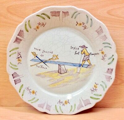 French 19th. Century Display Plate.
