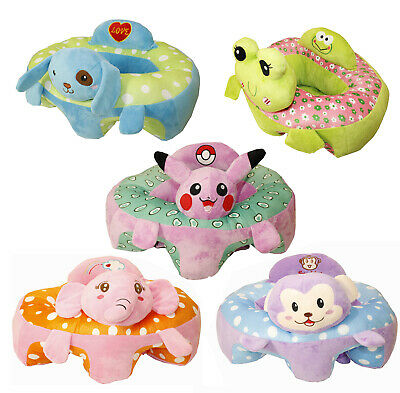 Baby Support Seat Sit Up Plush Cushion Chair Pillow Protector Animals