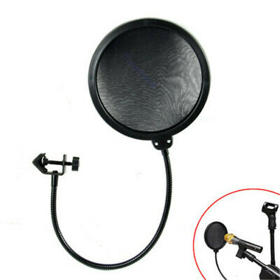 Record Studio Microphone Mic Windscreen Fad Filter Mask Shield with Double Layer