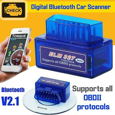 OBD2 Universal Car Engine Fault Code Reader Diagnostic Bluetooth Scanner Tool