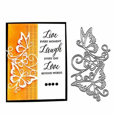 Butterfly Flower Metal Cutting Dies Stencil Scrapbooking Paper Card Craft Album
