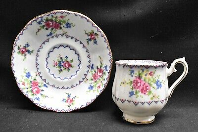 Royal Albert Petit Point Demitasse Cup & Saucer