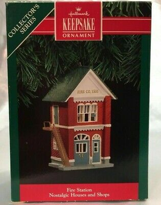 Hallmark Keepsake Ornament Fire Station 1991 Nostalgic Houses and Shops 8th