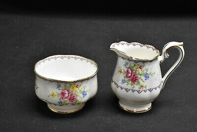 Royal Albert Petit Point Mini Creamer & Mini Sugar Bowl Set