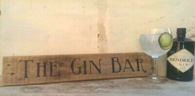 Champagne Bar Sign  Gin /& Tonic Pub BBQ Party Gift Vintage Look Old Wood