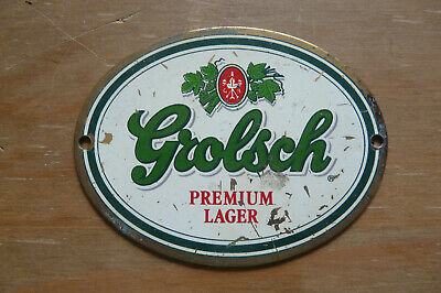 Brass Grolsch Premium Lager Beer Pump Plaque Sign
