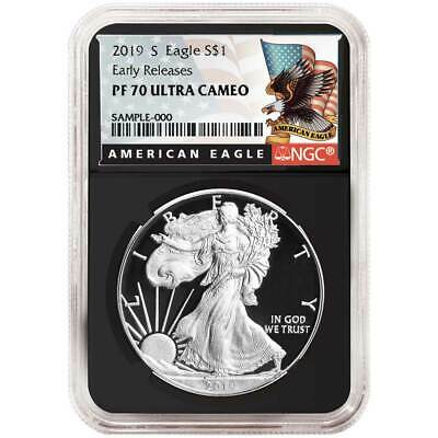 2019-S Proof $1 American Silver Eagle NGC PF70UC Black ER Label Retro Core