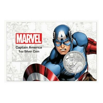 TUVALU 1 Dollar Argent 1 Once Captain America Card 2019