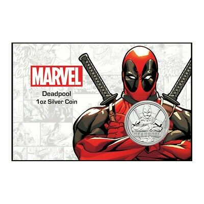 TUVALU 1 Dollar Argent 1 Once Deadpool Card 2018