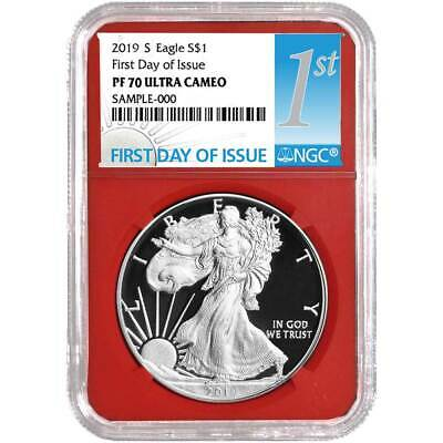 2019-S Proof $1 American Silver Eagle NGC PF70UC FDI First Label Red Core