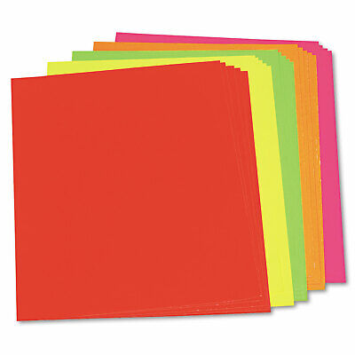 Pacon Neon Color Poster Board 28 x 22 Green/Pink/Red/Yellow 25/Carton 104234