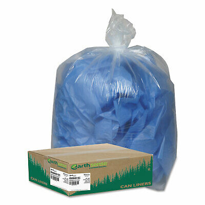 Earthsense Clear Recycled Can Liners 40-45gal 1.5mil Clear 100/Carton RNW4615C