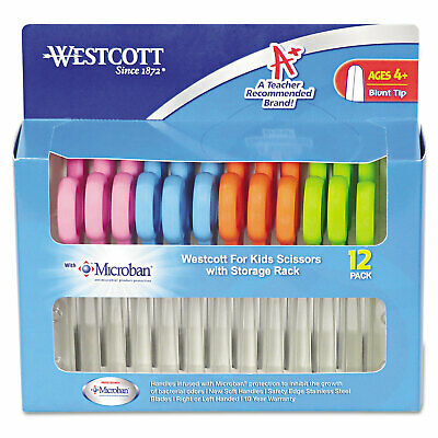 """Westcott Kids Scissors with Antimicrobial Protection 5"""" Blunt 12/Pack 14871"""