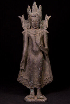 Antique bronze Pagan Buddha statue from Burma, 19th century