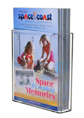 """Brochure Holder Bi Fold Pamphlet Window 6.5"""" with Suction Cups Qty 12"""