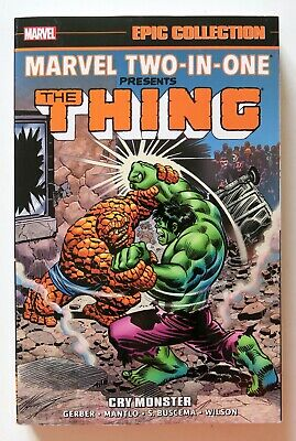 Marvel Two-In-One Cry Monster Marvel Epic Collection Graphic Novel Comic Book