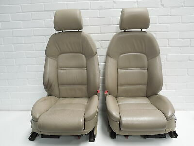 Audi A8 D3 Pair Torrone Beige Heated Leather Sport Front Seats #1