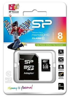 8GB MicroSDHC Speicherkarte Class 10 Silicon Power
