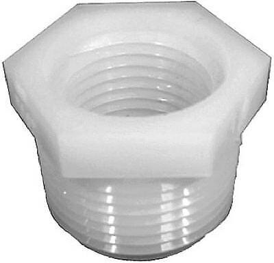 Nylon LASCO 19-9867 Fitting with 3//4-Inch Male Pipe Thread and 1//2-Inch Female Pipe Thread