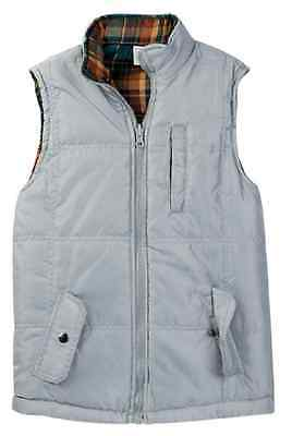 Sovereign Code Boys' Reverb Quilted Flannel Vest, Gray, Size 5,MSRP $50