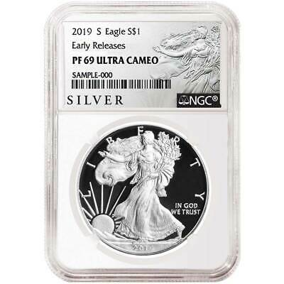 2019-S Proof $1 American Silver Eagle NGC PF69UC ALS ER Label