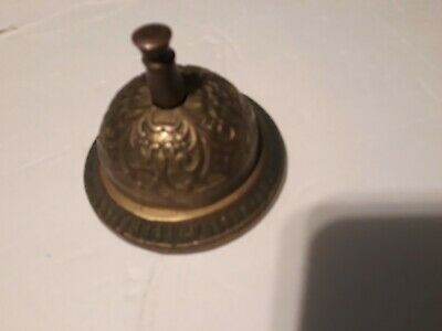 "3 1/2"" Brass Ring For Service Front Desk Counter Call Bell Cast Iron Ringer"