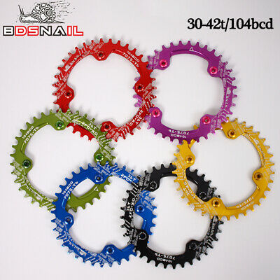 SNAIL Narrow Wide Chainring 30-42t 104bcd MTB Bike Chainwheel Crankset Sprocket