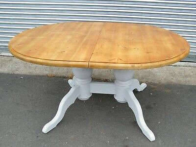 Pine Extending Kitchen / Dining  Table Painted Legs With Antique Finished Top