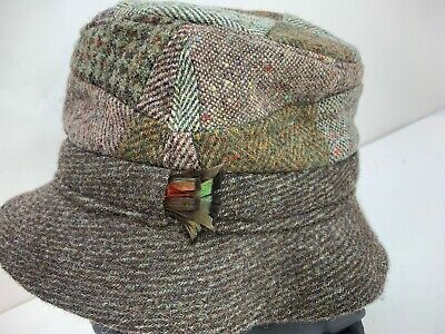 Vtg Castlebar Hats Of Ireland Donegal Tweed Bucket Hat Sz 6 7/8