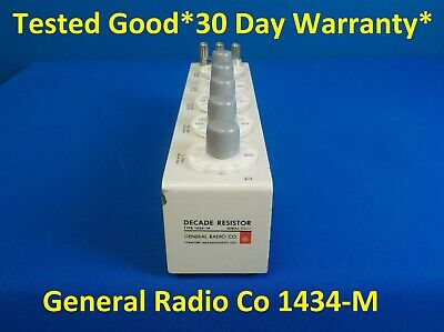 GenRad / General Radio / GR / IET 1434-M Decade Resistor (1434M)Tested Good