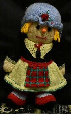 Collectable 16 Inch Rag Doll - Hand Knitted - Cuddly Teddy Toy