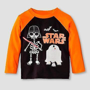 NEW Star Wars 18 mos Halloween T Shirt Top Darth Vader R2D2 Ghost NWT Disney