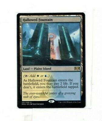 MTG SkeenAB Hallowed Fountain from Ravnica Allegiance. NM.