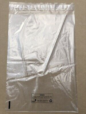 25 x 35 - Clear polythene mailing bags - Clothing sellers - Peel seal - resell