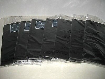 7 Pkgs TISSUE PAPER All Black Gift wrapping Party Decor Free Ship