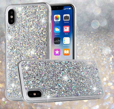 Bling Glitter Soft Apple Case For iPhone 11 Pro Max XR 7 8 PLUS Shockproof Cover